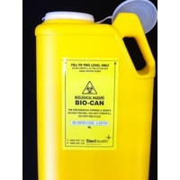 BIO-CAN Oval  Sharps Container 8 Ltr Push Cap