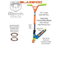 ADRENALIN BLAZE 100  STUNT  SCOOTER -  Blue/Orange
