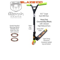 ADRENALIN BLAZE 100  STUNT  SCOOTER -  Black