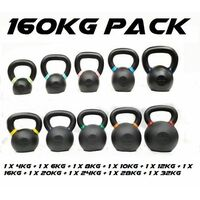 Morgan 160Kg Cast Iron Kettlebell Pack