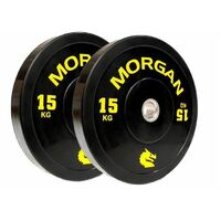 Morgan 15Kg Olympic Bumper Plates  (Pair)