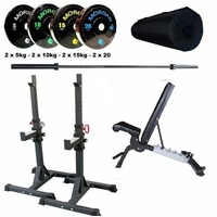 Adjustable Olympic Weight Bench Set