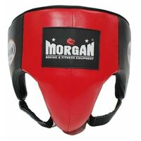 Morgan Platinum Leather  Abdo Guard[X Large Red]