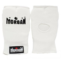 Morgan Karate Hand Protectors[White Medium]