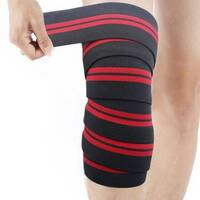 MORGAN ELASTIC KNEE WRAPS SUPPORT WEIGHT LIFTING