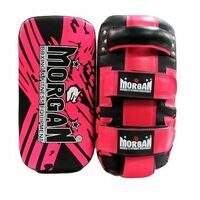 Morgan Bkk Ready Curved Thai Pads (Pair)[Fluro Pink]