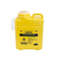 One Piece Sharps Container With Screw Lid 8L