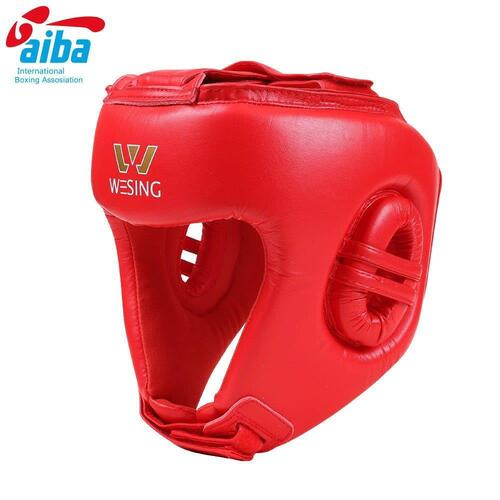 Wesing Aiba Approved Leather  Head Guard[Small Red]