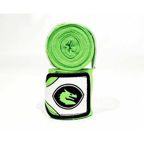 Morgan Mexico Elastic Short Boxing Hand Wraps - 108Inch - 2.75M Long  (Pair) [Thai Lime Green]