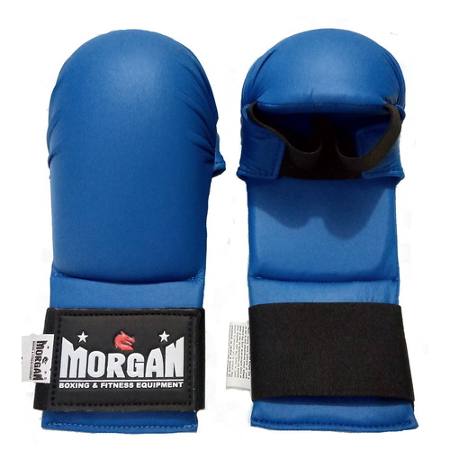 Morgan Wkf Style Karate Gloves [Small Blue]